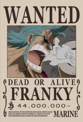 Wanted Franky - One Piece Music